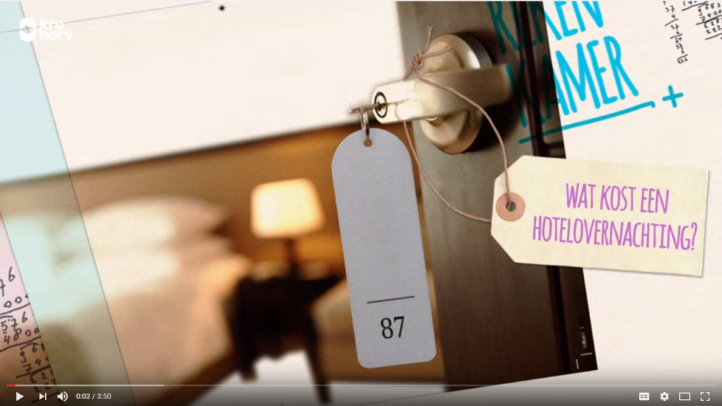 Bekijk hier de video van het TV-programma 'De Rekenkamer' - Westcord Hotels