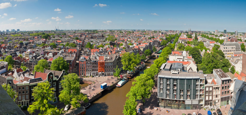 Uitzicht over het centrum van Amsterdam - Westcord Hotels