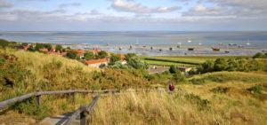 Uitzicht op de kustlijn van Vlieland - Westcord Hotels