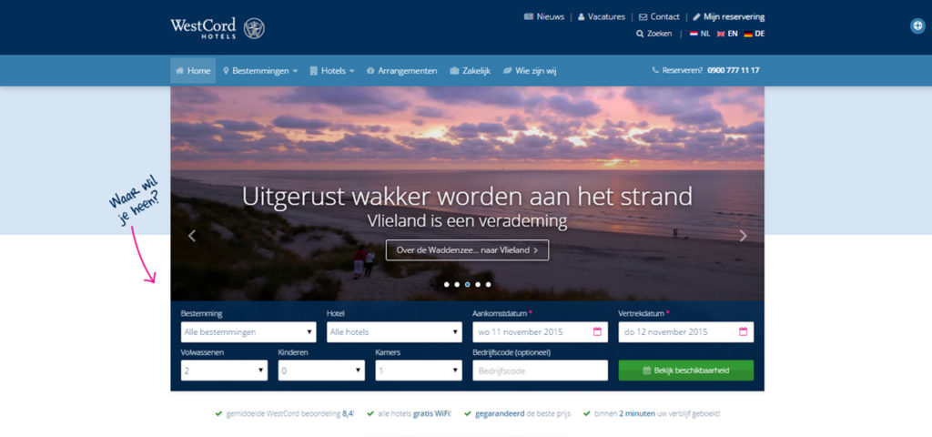 Nieuwe website WestCord Hotels live - WestCord Hotels