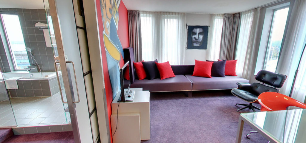 360º foto Herman Brood Suite Art Hotel Amsterdam **** - Westcord Hotels