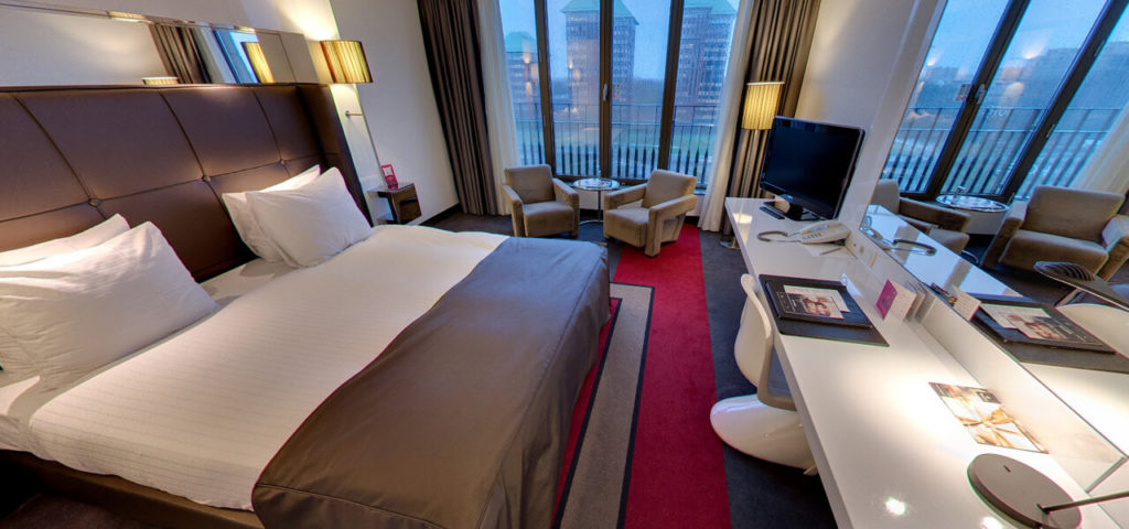 360º foto Large Fashion Double Room Fashion Hotel Amsterdam - Westcord Hotels