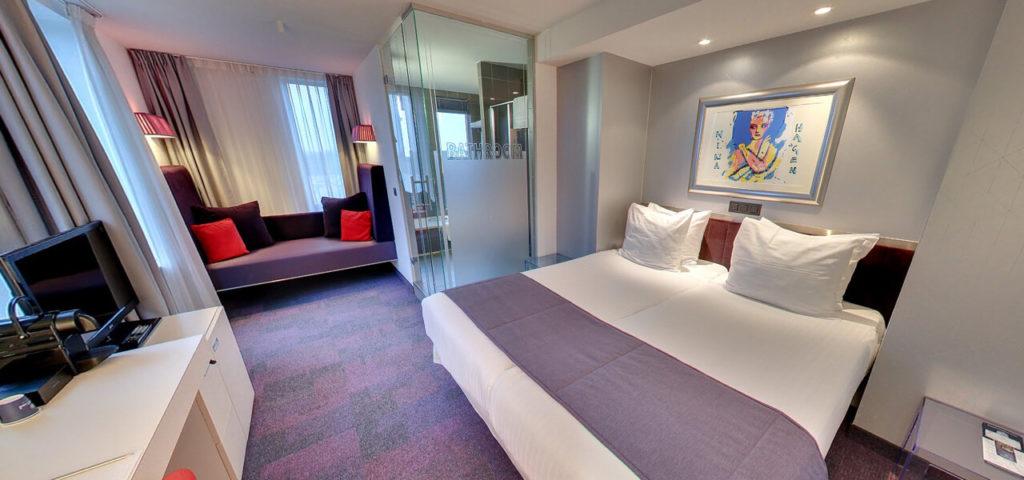 360º foto Large Twin Room Art Hotel Amsterdam **** - Westcord Hotels