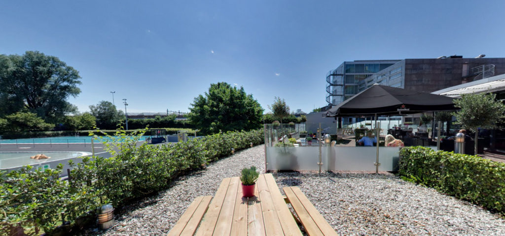 360º foto terras Art Hotel Amsterdam - Westcord Hotels