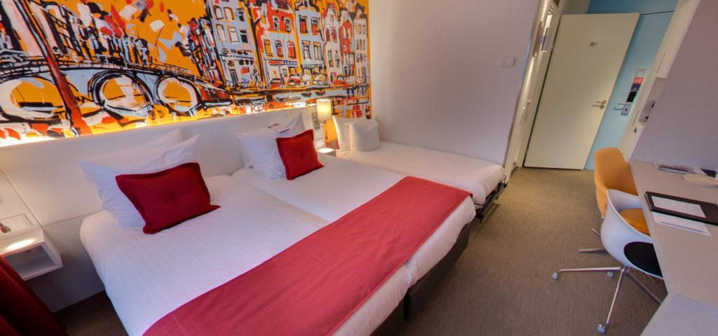 360º foto Triple Deluxe Room Art Hotel Amsterdam *** - Westcord Hotels