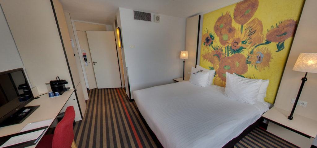 360º foto Twin/Double Deluxe Room Art Hotel Amsterdam *** - Westcord Hotels