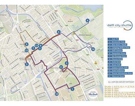 Delft City Shuttle route