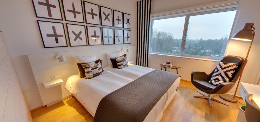 360º foto Tweepersoonskamer 'Cognac' WestCord Hotel Delft - Westcord Hotels