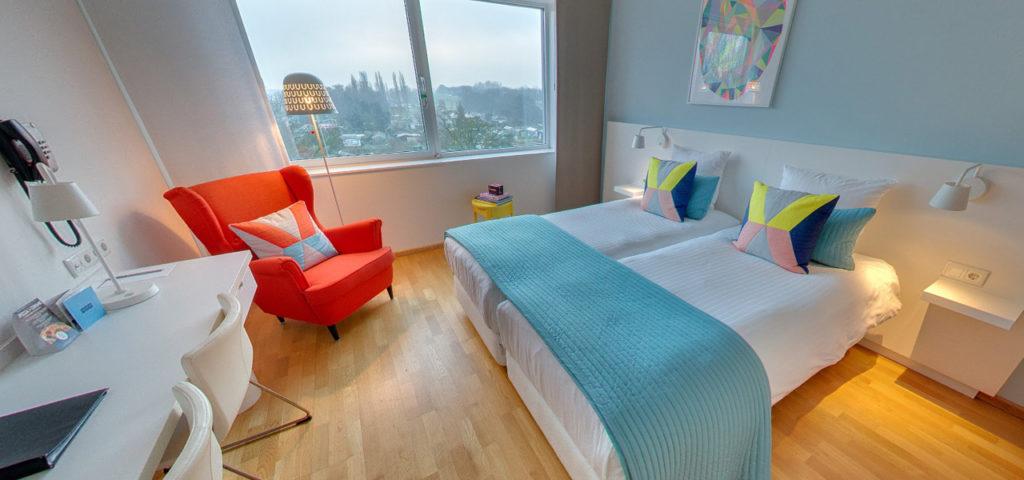 360º foto Tweepersoonskamer 'Colour' WestCord Hotel Delft - Westcord Hotels