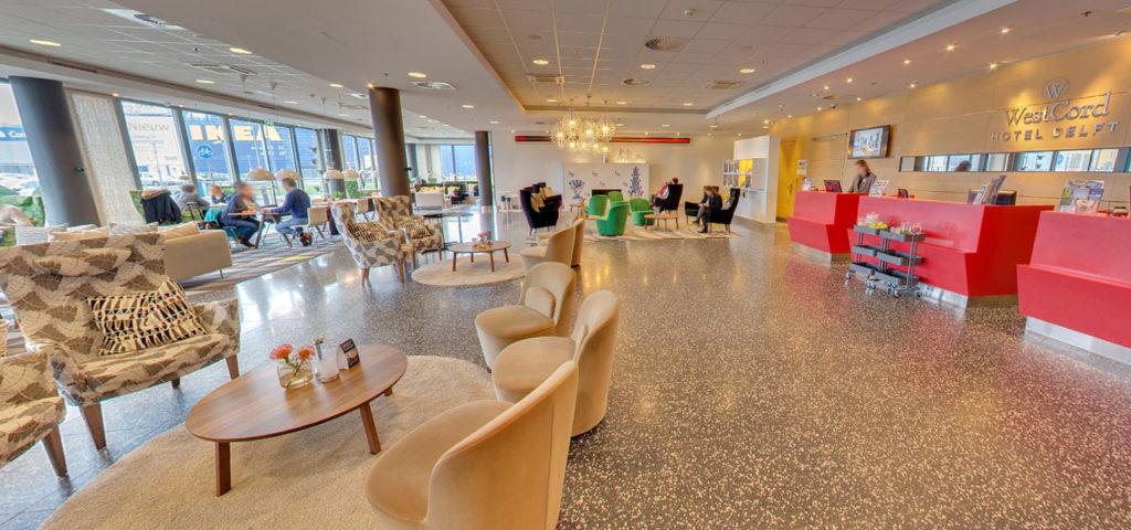 360º foto lobby WestCord Hotel Delft - Westcord Hotels