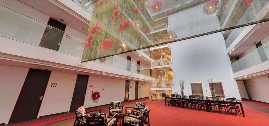 360º foto zaal 'Atrium' WestCord Hotel Delft - Westcord Hotels