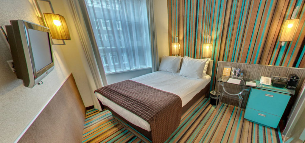 360º foto Double Kamer met city view WestCord City Centre Hotel Amsterdam - Westcord Hotels