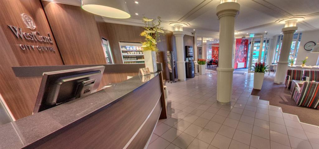 360º foto lobby WestCord City Centre Hotel Amsterdam - Westcord Hotels