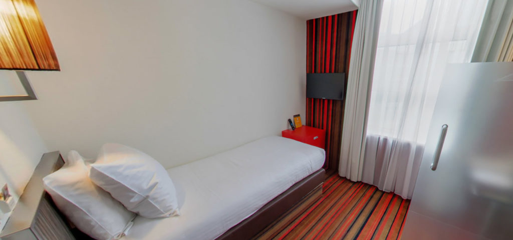 360º foto Single Kamer met city view WestCord City Centre Hotel Amsterdam - Westcord Hotels