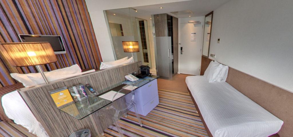 360º foto Triple Kamer met city view WestCord City Centre Hotel Amsterdam - Westcord Hotels