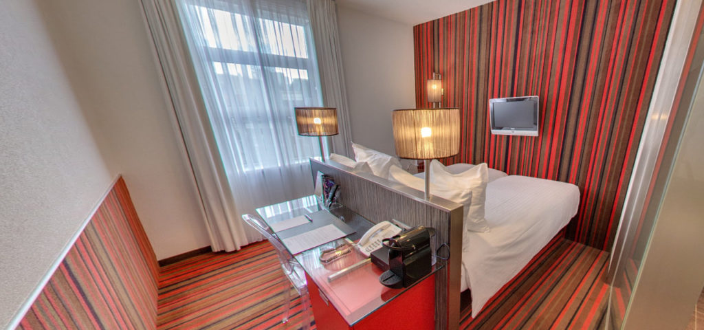 360º foto Twin Kamer met city view WestCord City Centre Hotel Amsterdam - Westcord Hotels
