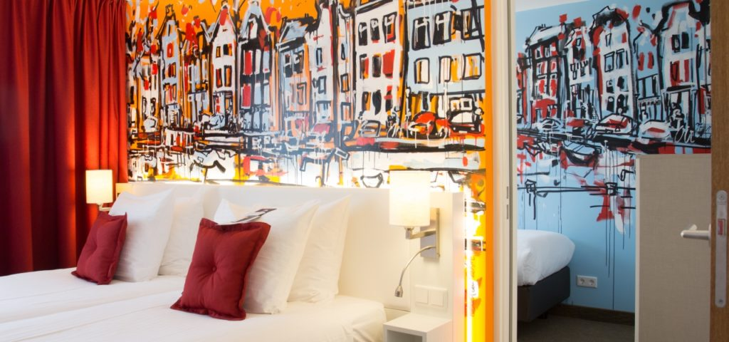 4 pers. room, 2 rooms en suite Art Hotel Amsterdam - Westcord Hotels