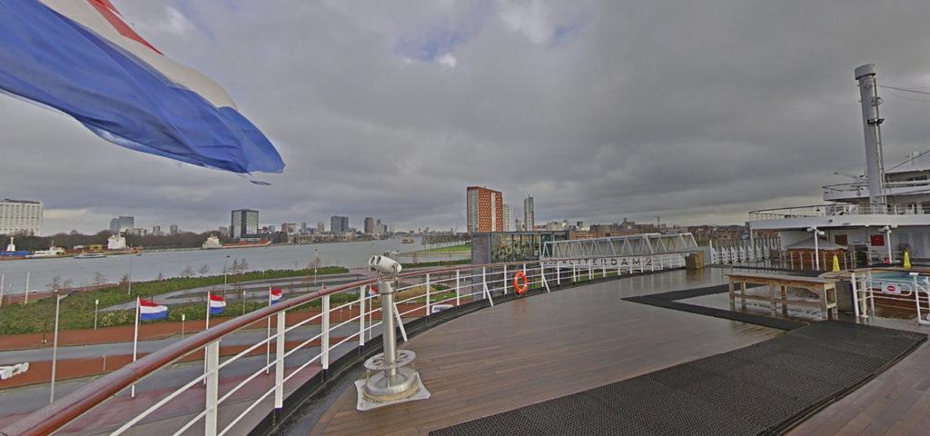 360º foto achterdek ss Rotterdam - Westcord Hotels