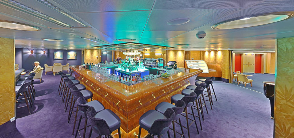 360º foto Captain's Lounge ss Rotterdam - Westcord Hotels