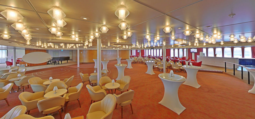 360º foto Queen's Lounge ss Rotterdam - Westcord Hotels
