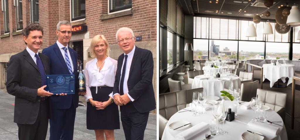 Restaurant élevé ambassadeur Champagne Barons de Rothschild - WestCord Hotels