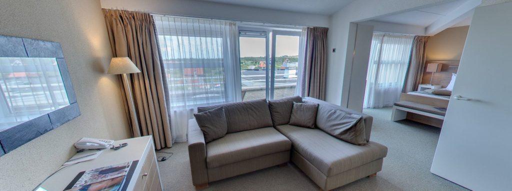 360º foto Suite Landzijde Strandhotel Seeduyn - Westcord Hotels