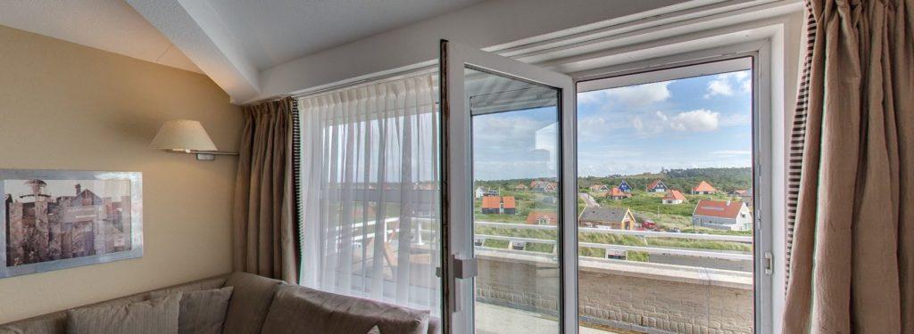 360º foto Superior Landzijde Balkon Strandhotel Seeduyn - Westcord Hotels