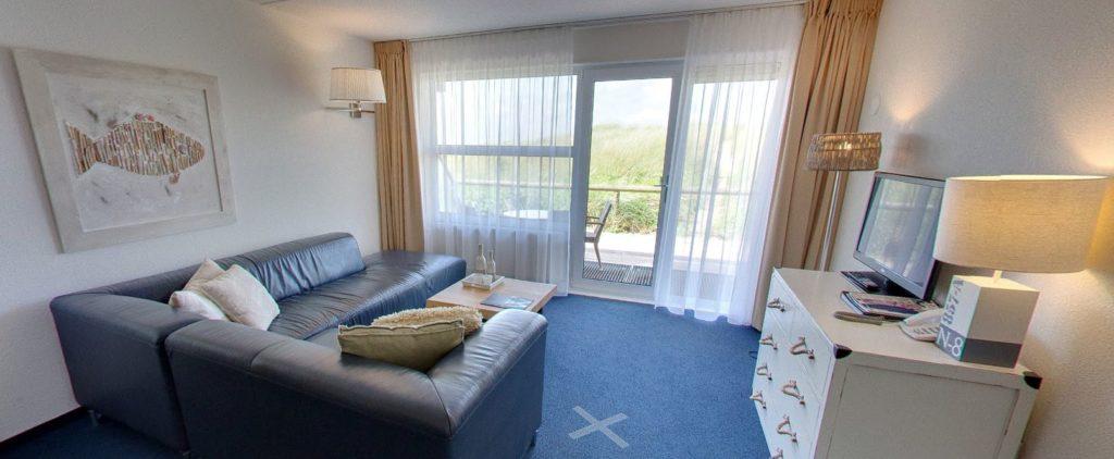 360º foto Vierpersoonskamer Strandhotel Seeduyn - Westcord Hotels