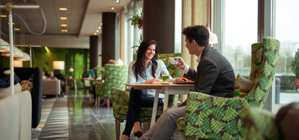 Delft - Lobby - Koffie - Thee - Hotel Delft - Westcord Hotels
