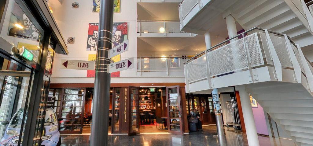 360º foto Entree + lobby Art Hotel Amsterdam - Westcord Hotels