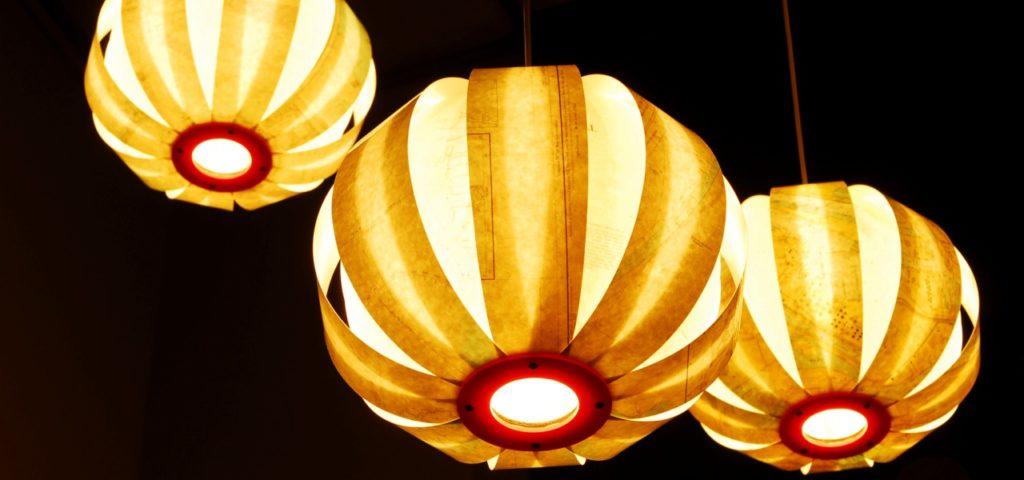 Zeekaart lampen in Hotel New York - WestCord Hotels