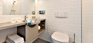 Badkamer Superior/Single Art Hotel Amsterdam - Westcord Hotels