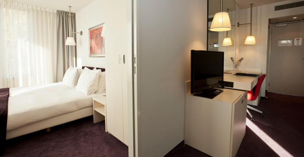 Slaapkamer XXL Quad Kamer Art Hotel Amsterdam - Westcord Hotels