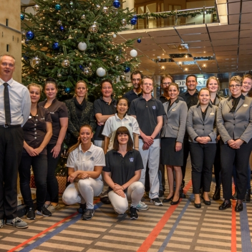 Team Hotel Schylge in kerstsfeer
