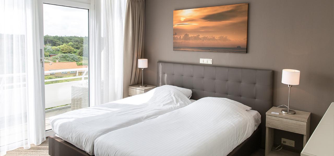 slaapkamer-appartement-extra-large-westcord-strandhotel-seeduyn-vlieland-1