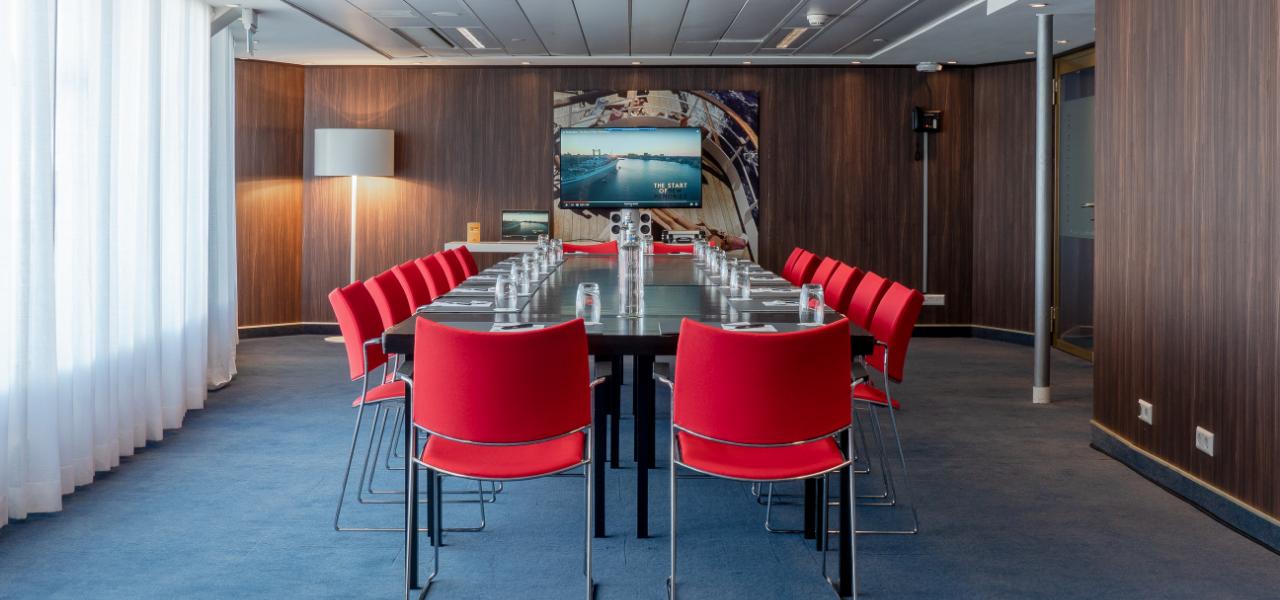 Sun Room boardroom opstelling
